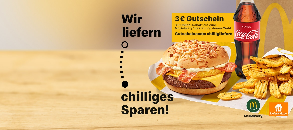 Chillig sparen bei McDelivery®